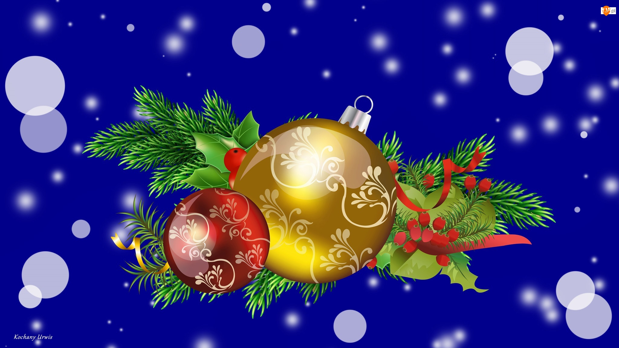 Bombki, Boże Narodzenie, Gałązki