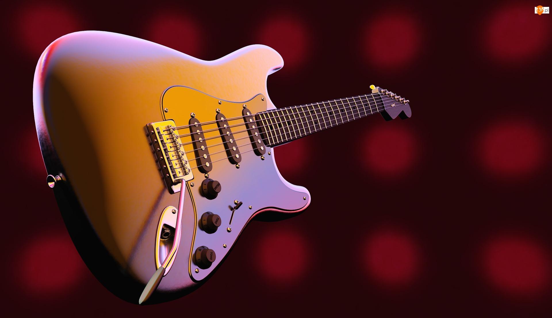 Czerwone tło, Gitara, Elektryczna