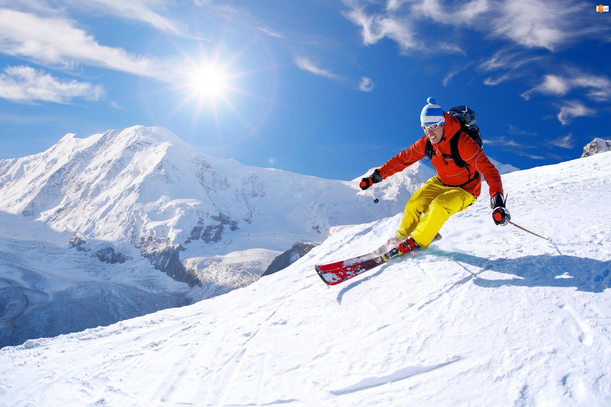 Narciarstwo, Zima, Narciarz, Sport extremalny