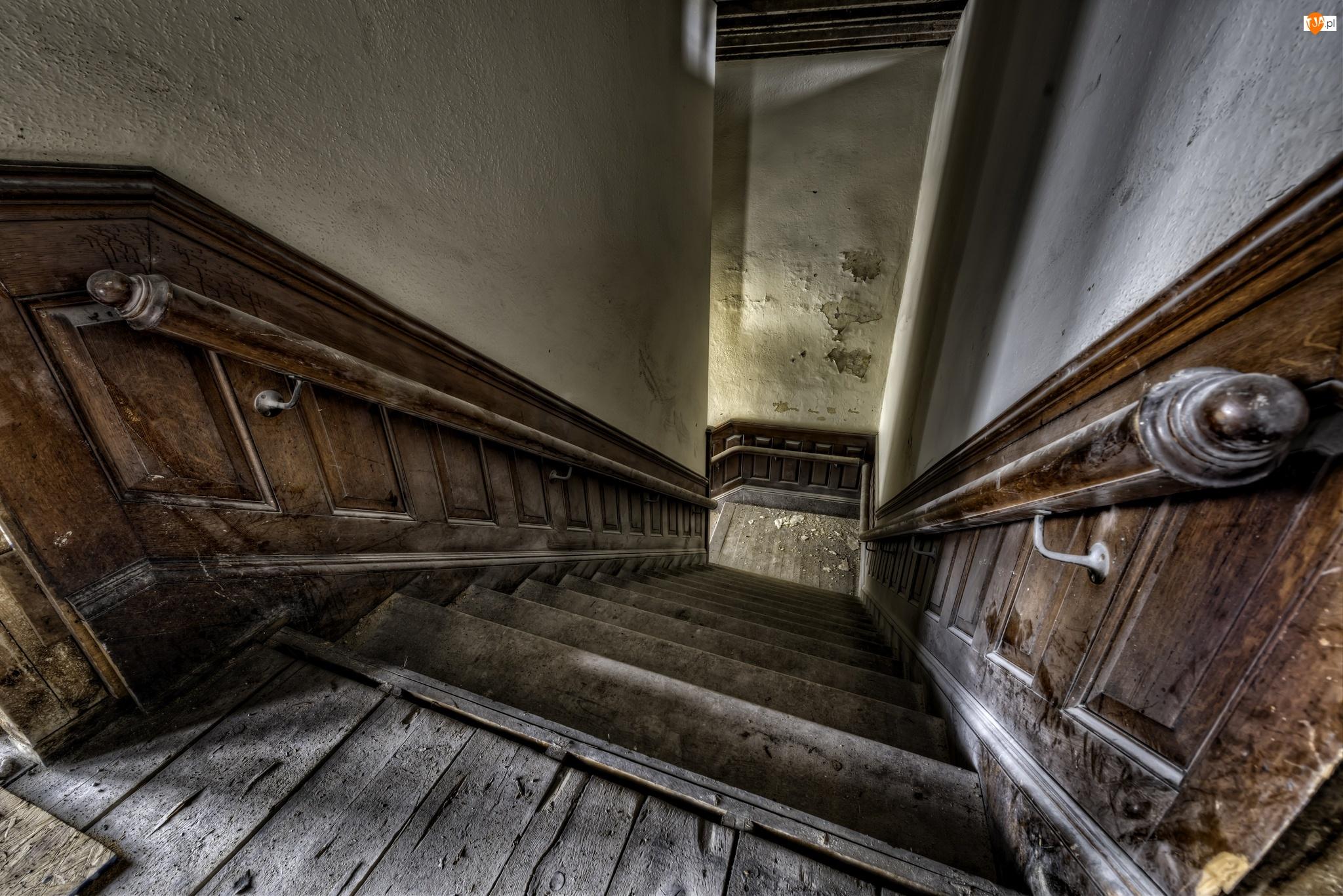 Korytarz, Schody, Klatka schodowa, Drewniane