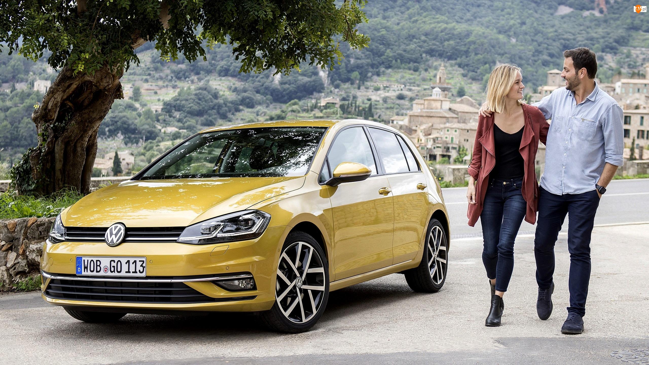 Facelift, Volkswagen Golf 7, Droga, Mężczyzna, 2017, Kobieta