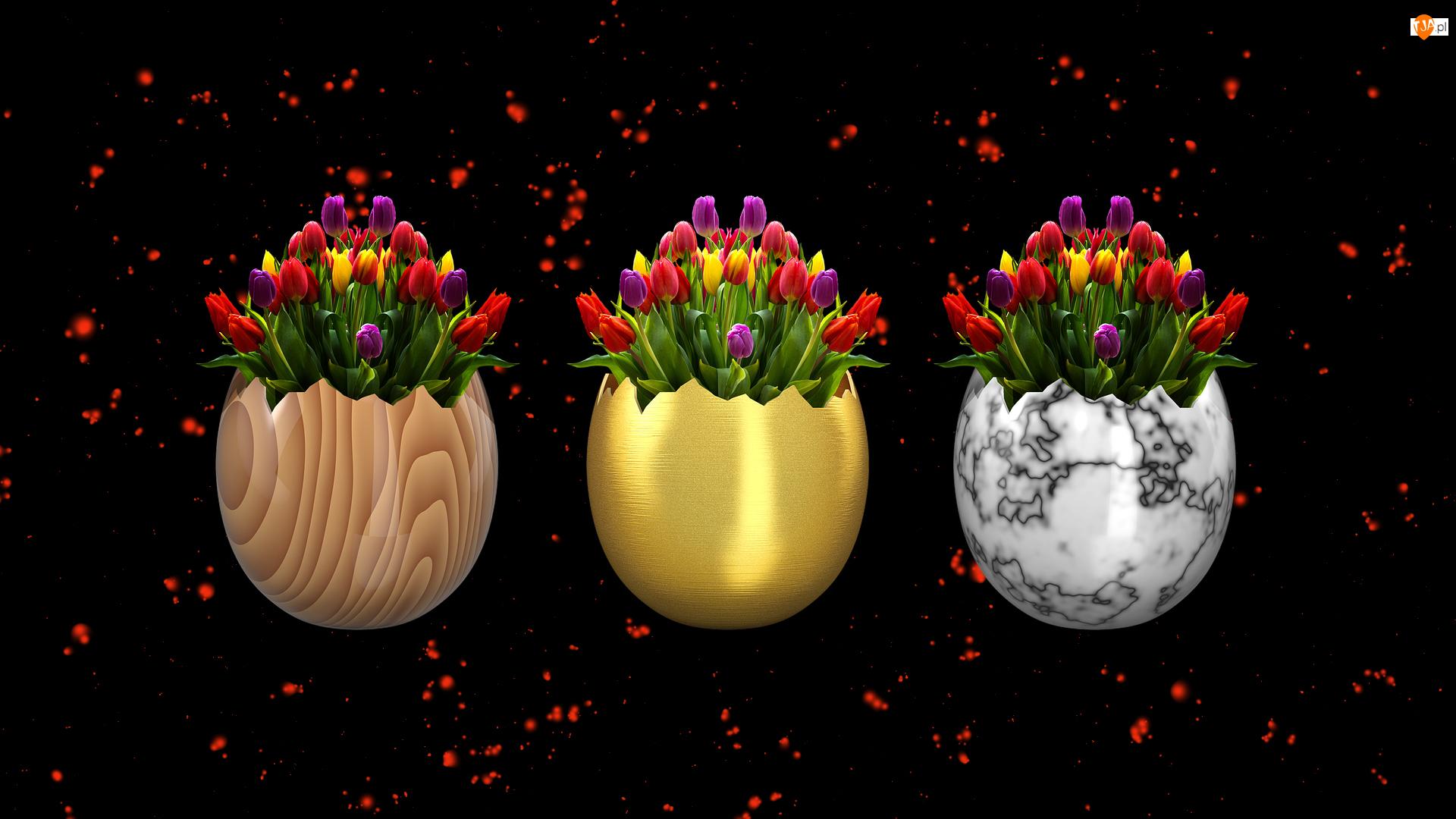 Dekoracja, Kwiaty, Tulipany