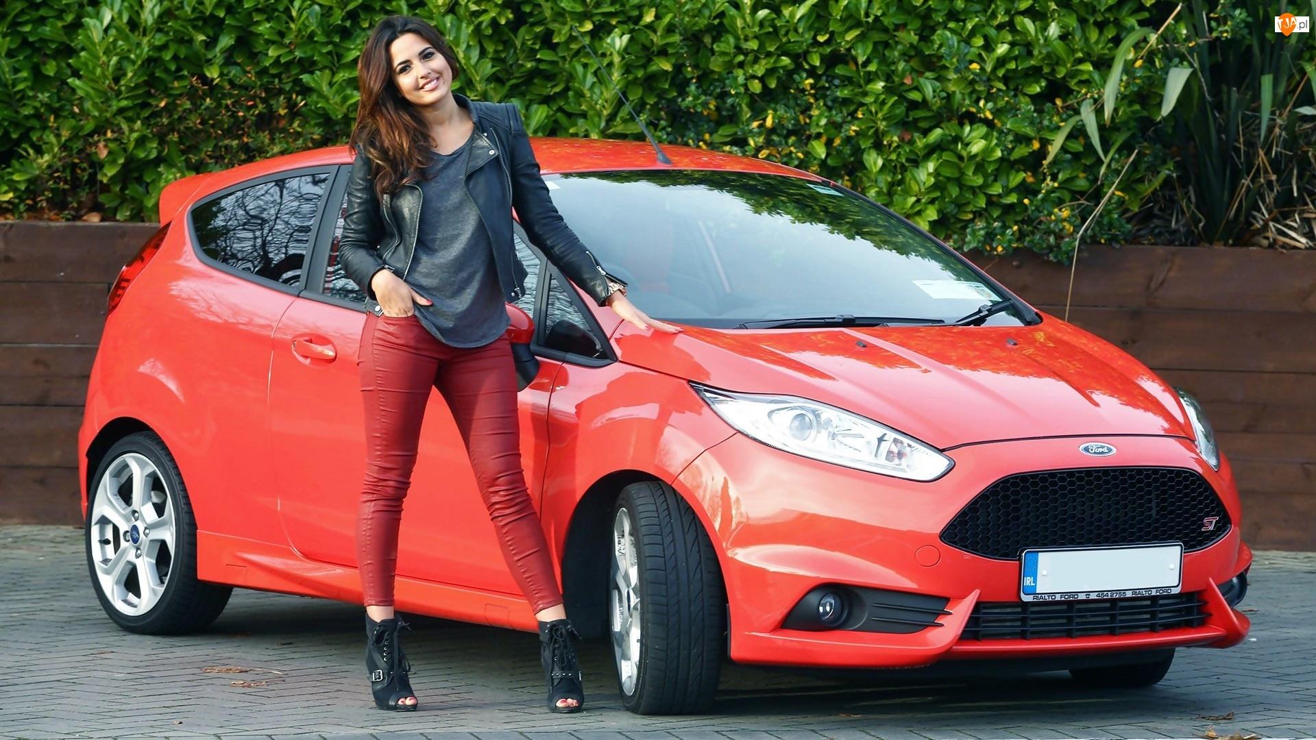 2013, Nadia Forde, Ford Fiesta ST, Czerwony, Kobieta