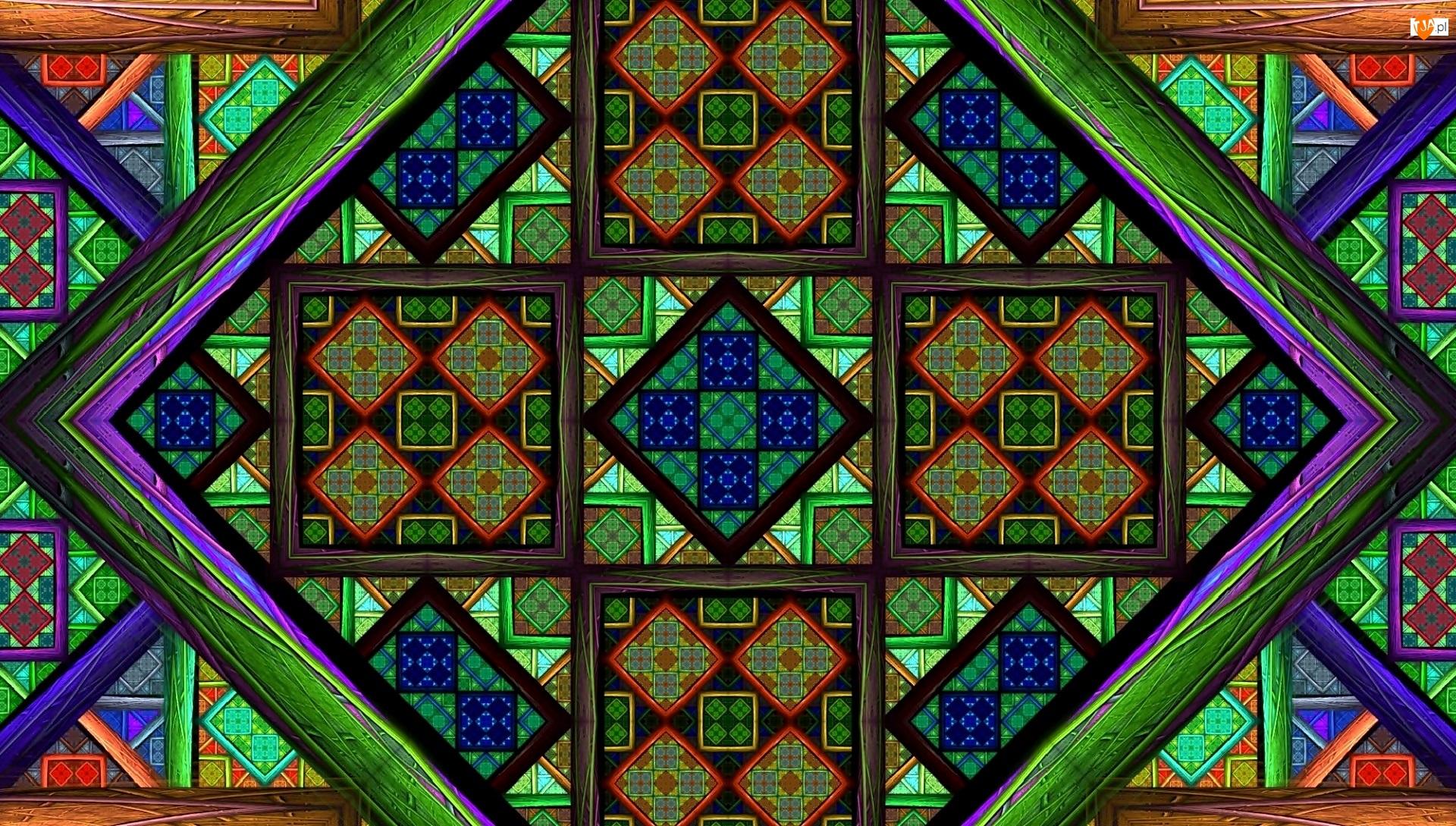 Tekstura, Kolorowe, Kwadraty, Mozaika