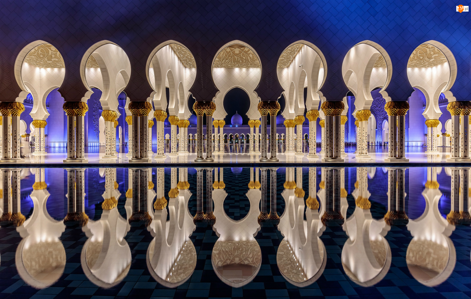 Wnętrze, Zjednoczone Emiraty Arabskie, Miasto Abu Dhabi, Wielki Meczet Szejka Zayeda