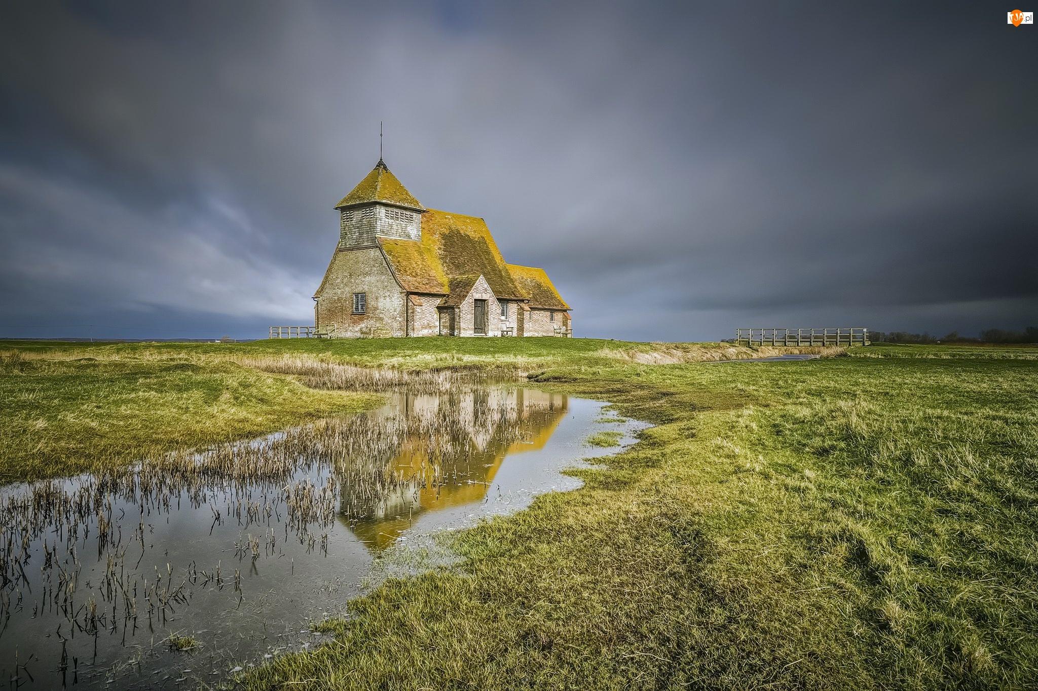 Kościół, Moczary Romney, Bagna, Anglia