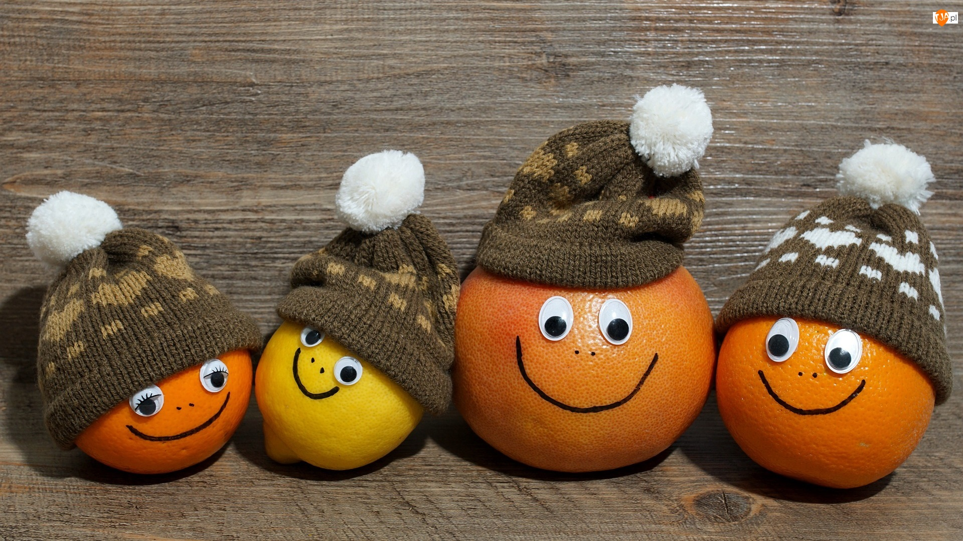Pomarańcza, Cytrusy, Cytryna, Czapeczki, Grejpfrut, Mandarynka