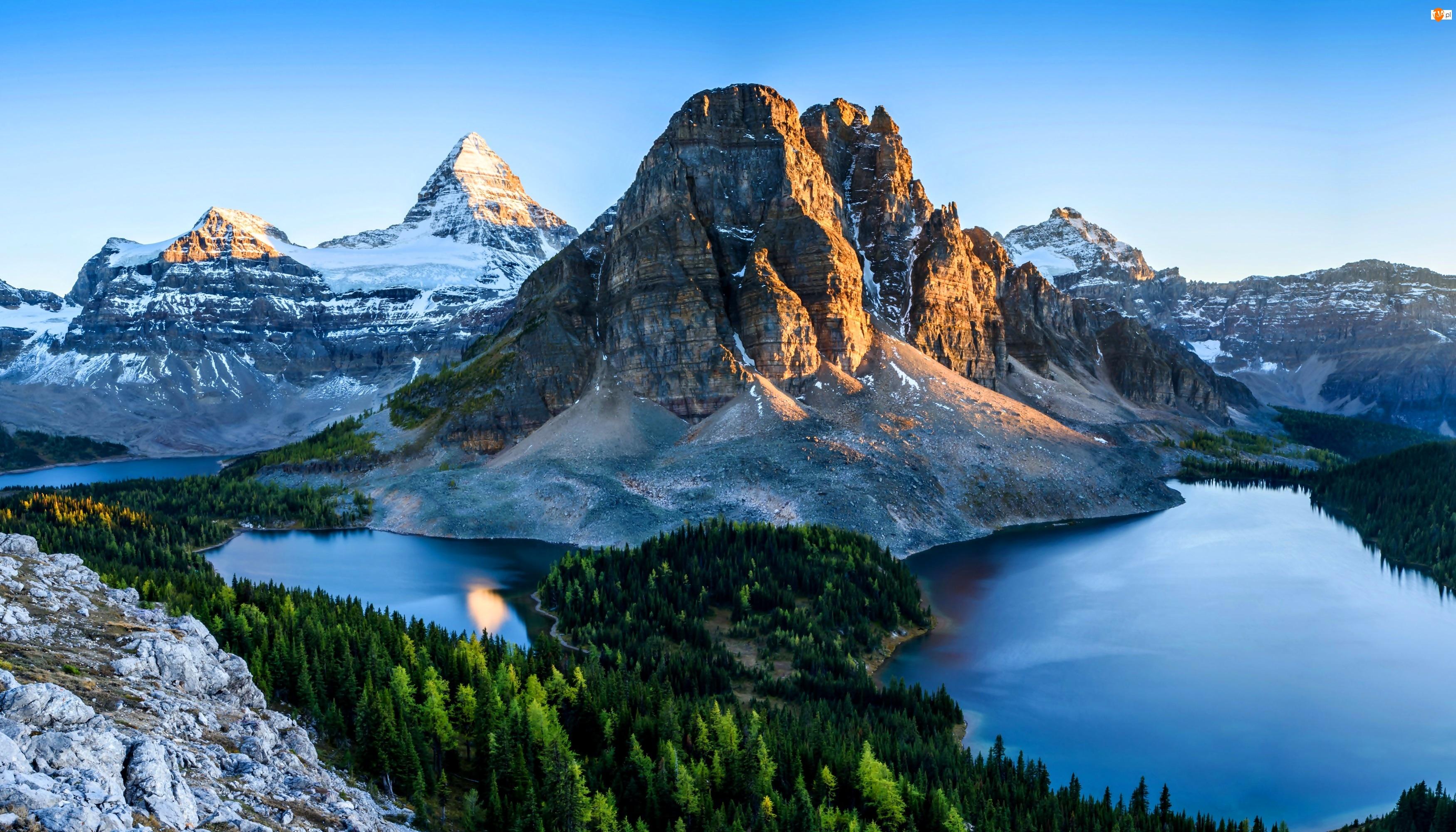 Góra Mount Assiniboine, Kanada, Prowincja Kolumbia Brytyjska, Park prowincjonalny Mount Assiniboine Provincial Park