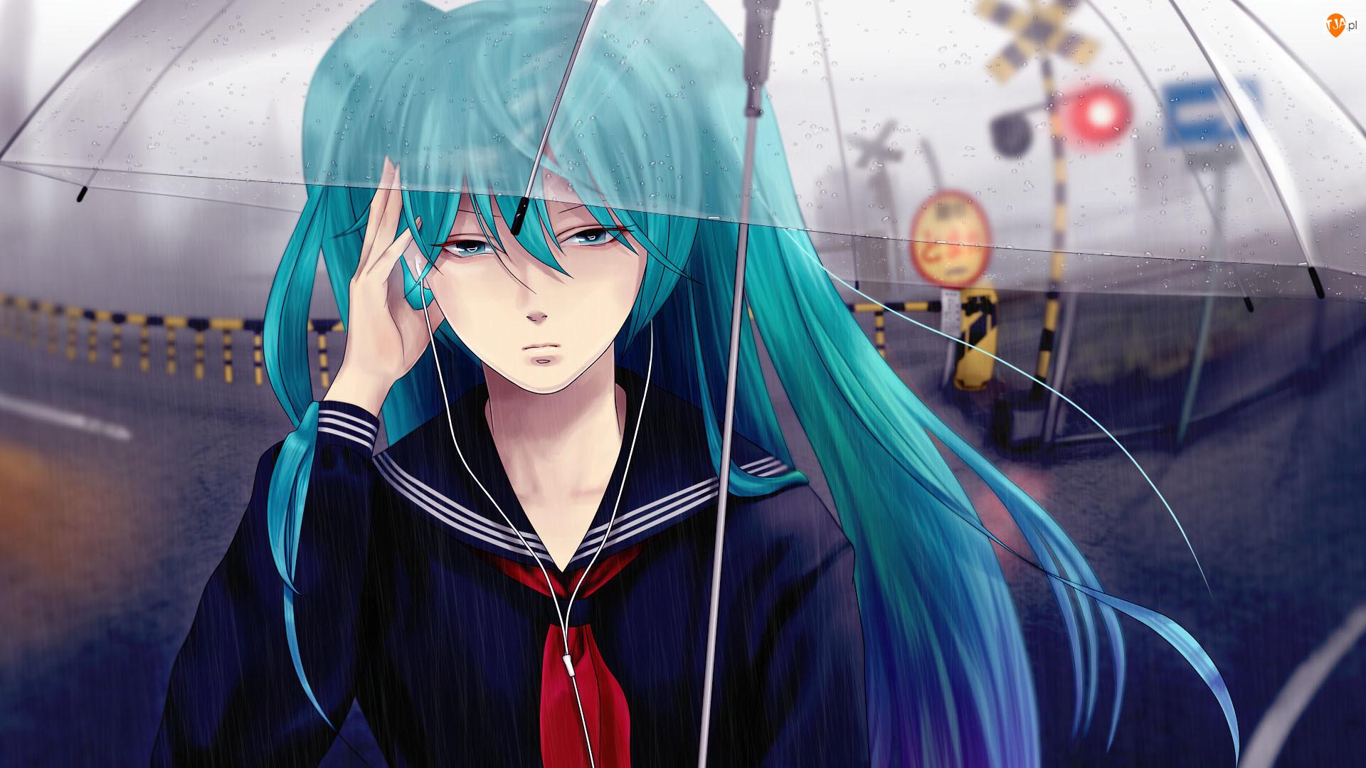 Parasol, Kolejowy, Hatsune Miku, Vocaloid, Przejazd
