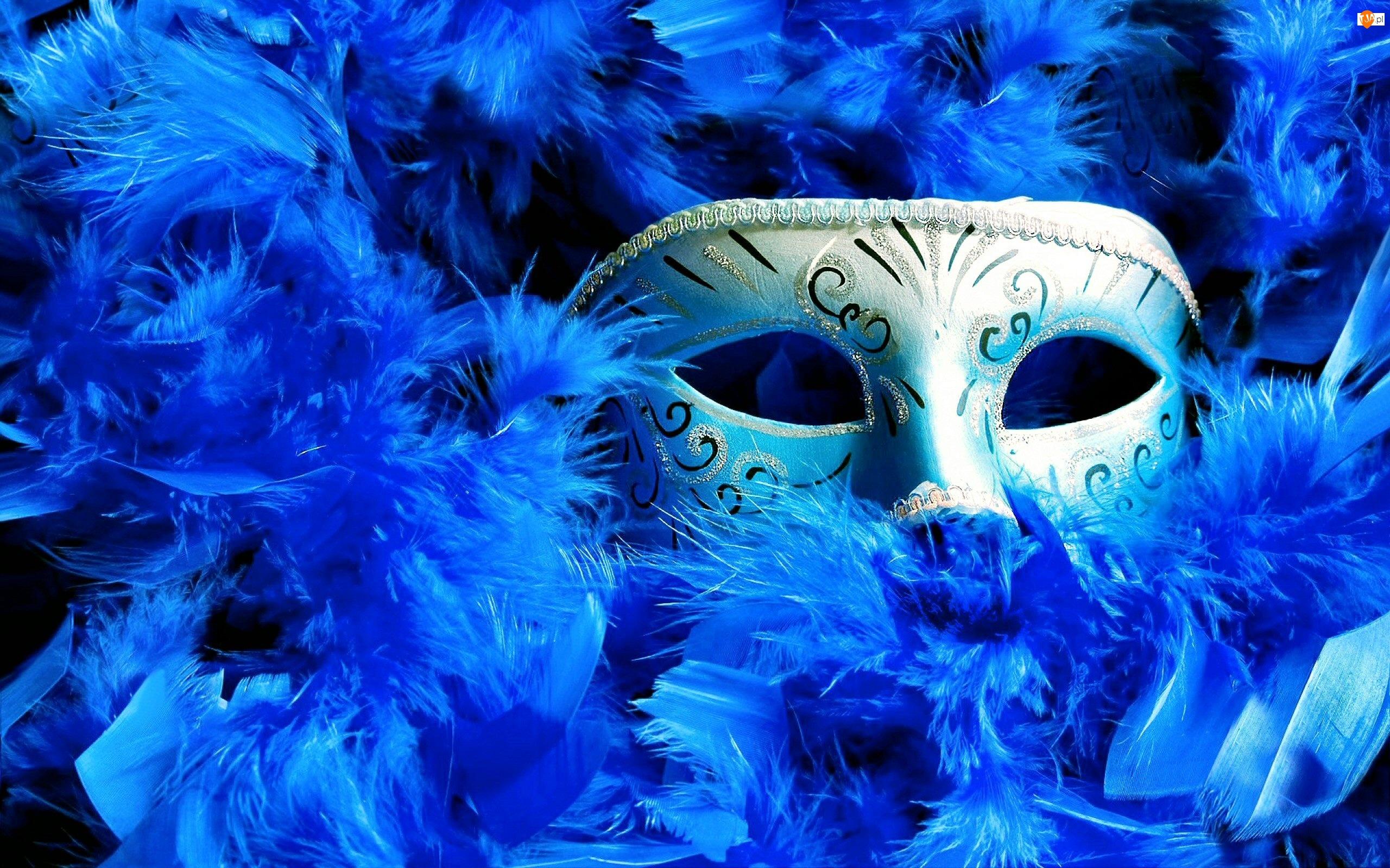 Maska, Niebieskie, Pióra