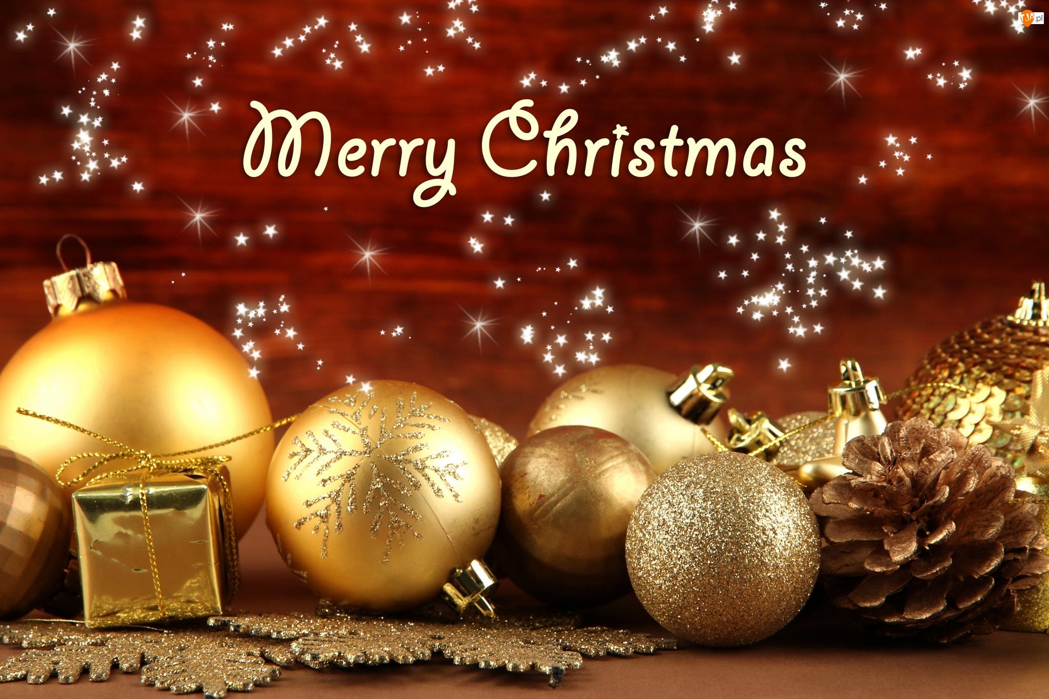 Boże Narodzenie, Kompozycja, Bombki, Merry Christmas, Świąteczne, Życzenia