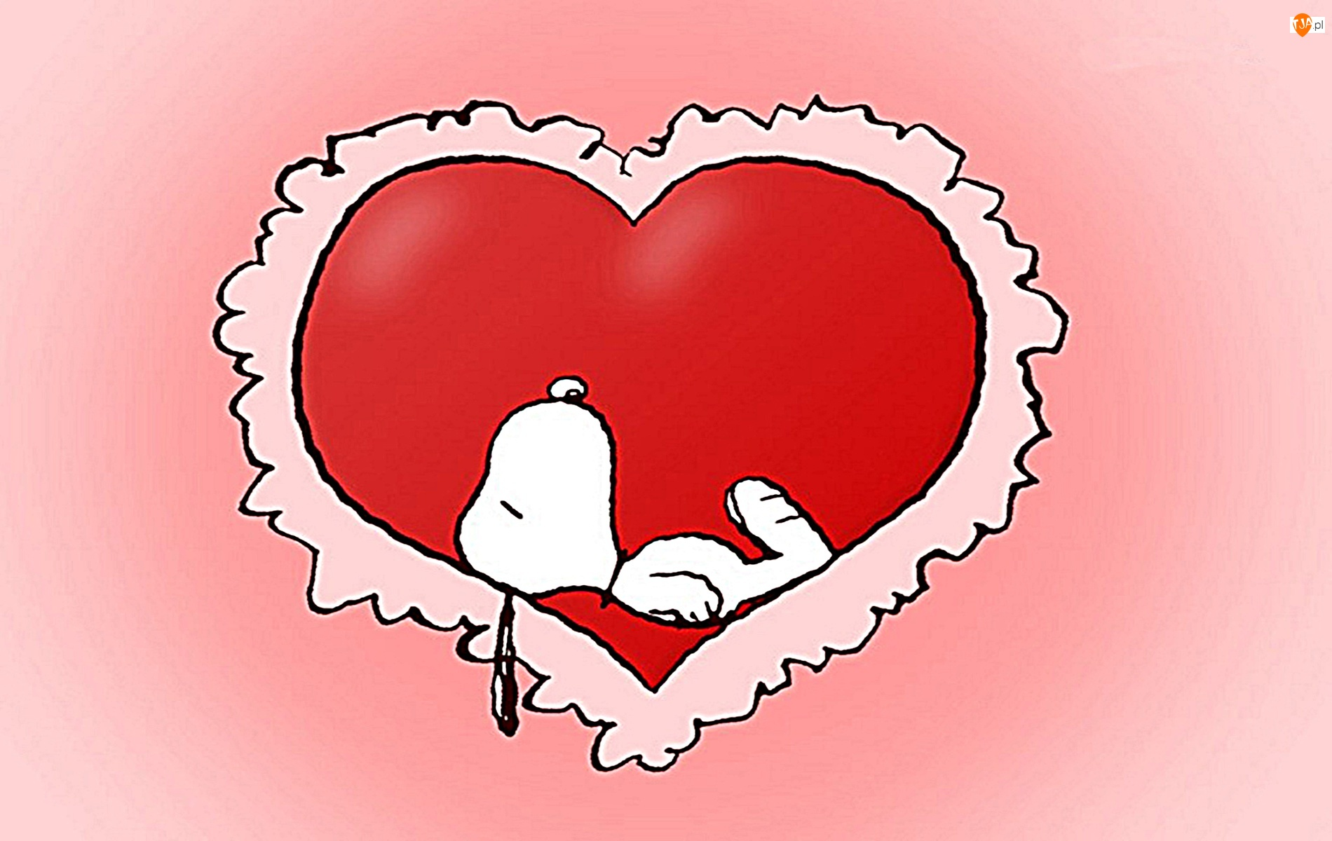 serce, Snoopy, kreskówka