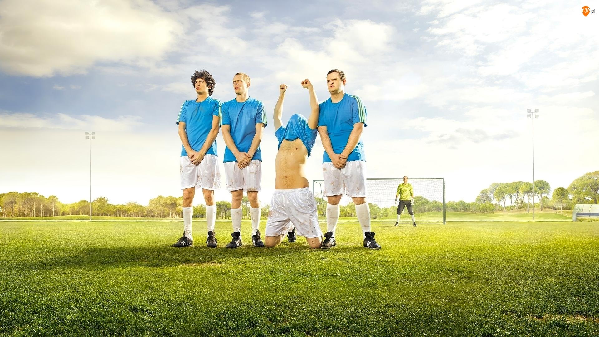 Piłkarze, Mur zawodników, Śmieszne, Humor, Bramka