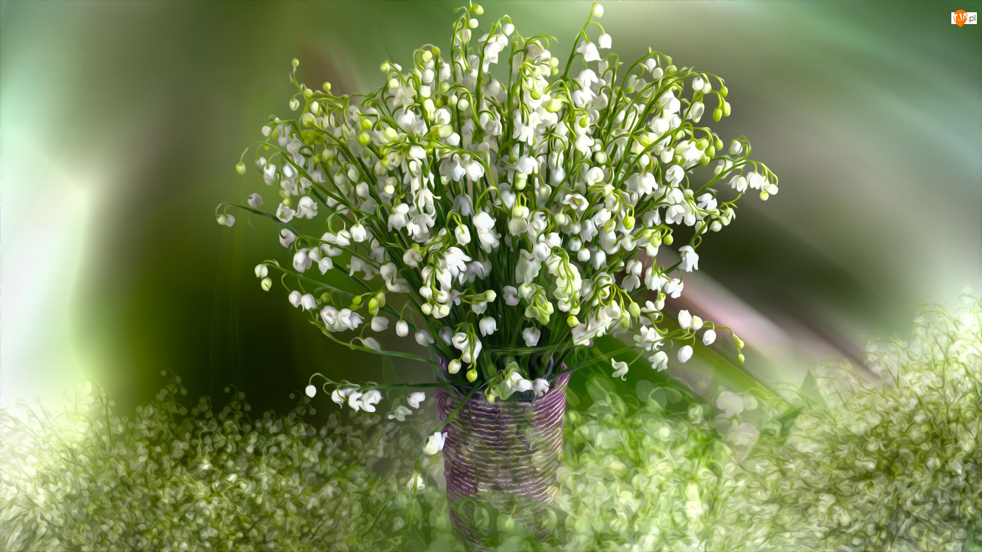 Grafika, Kwiaty, Konwalie, Bukiet