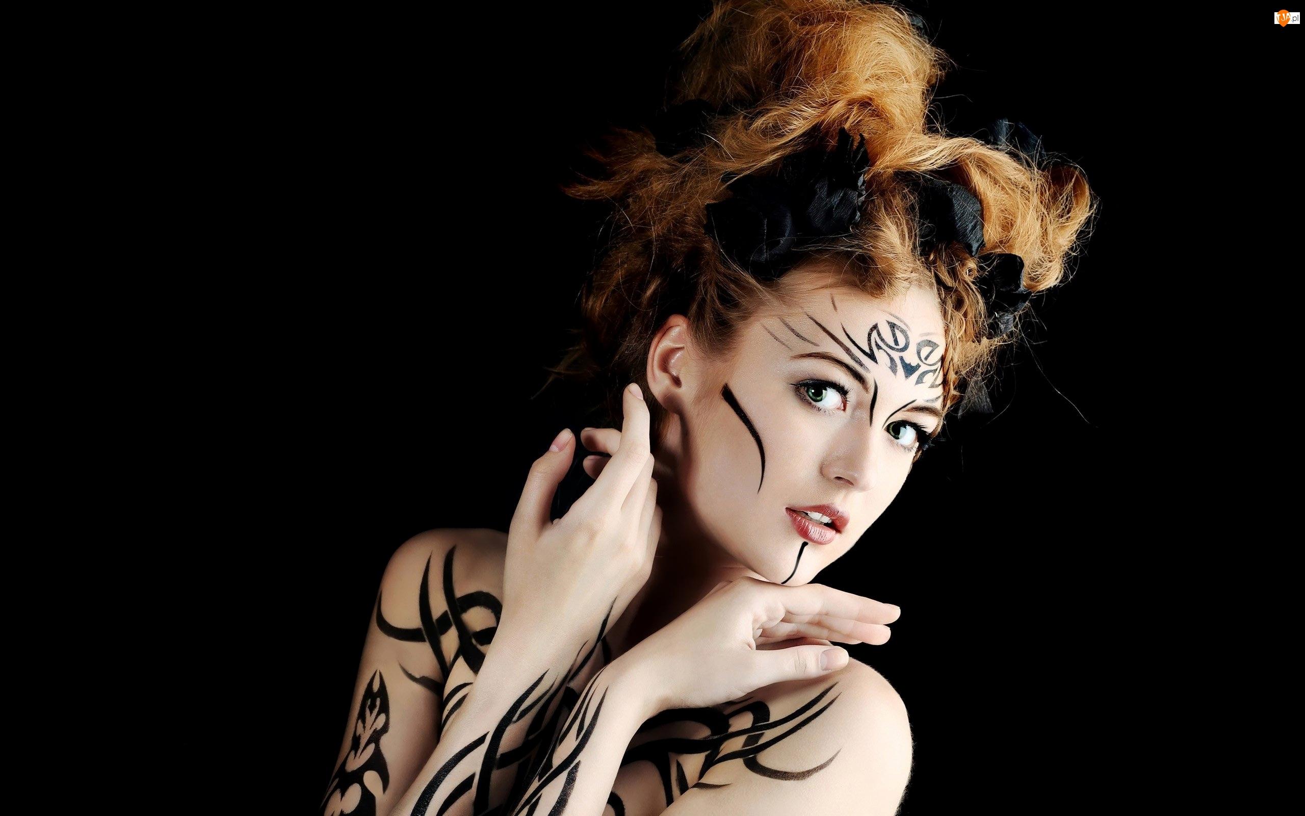 Makijaż, Kobieta, Bodypainting