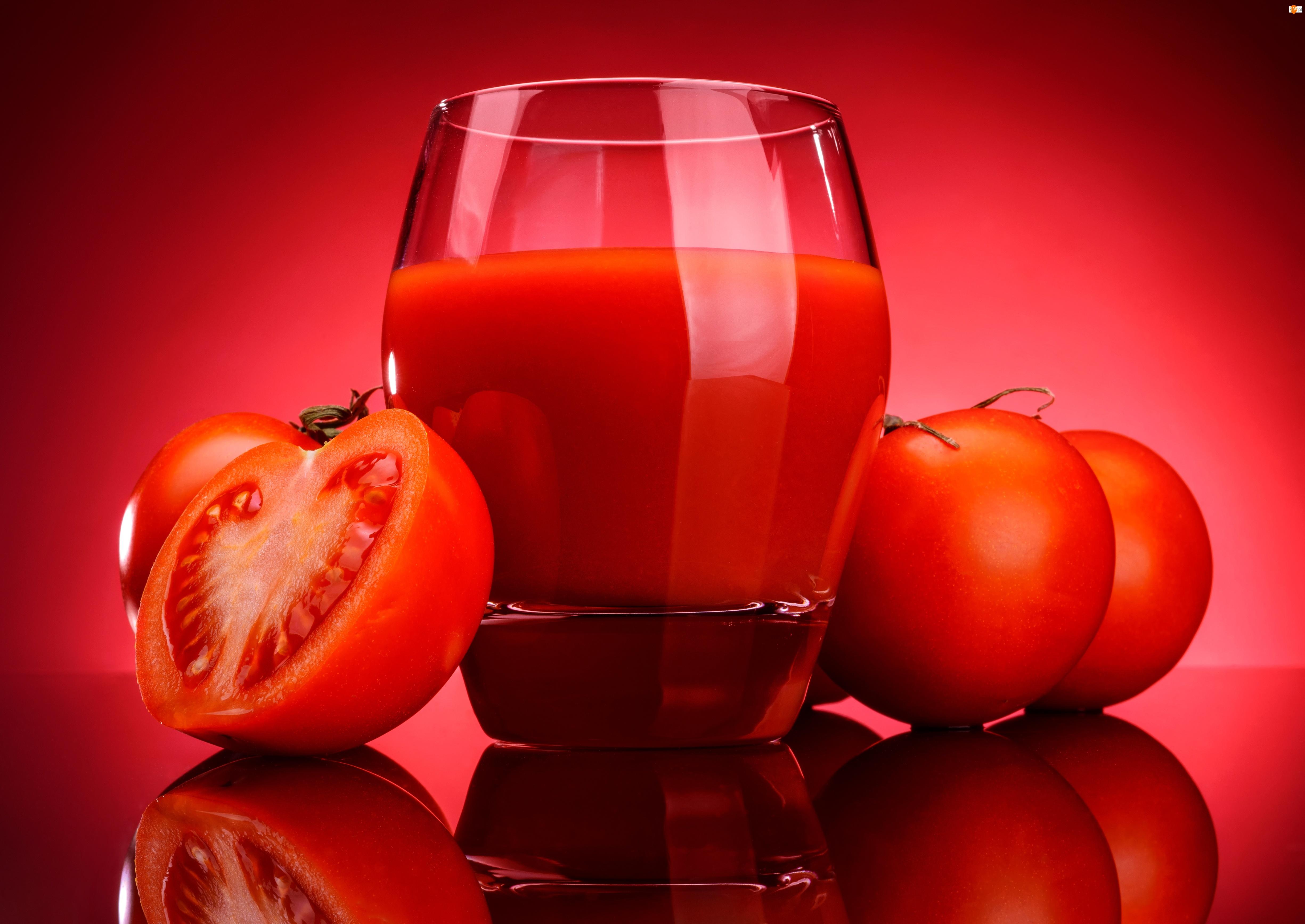 Sok, Szklanka, Pomidory