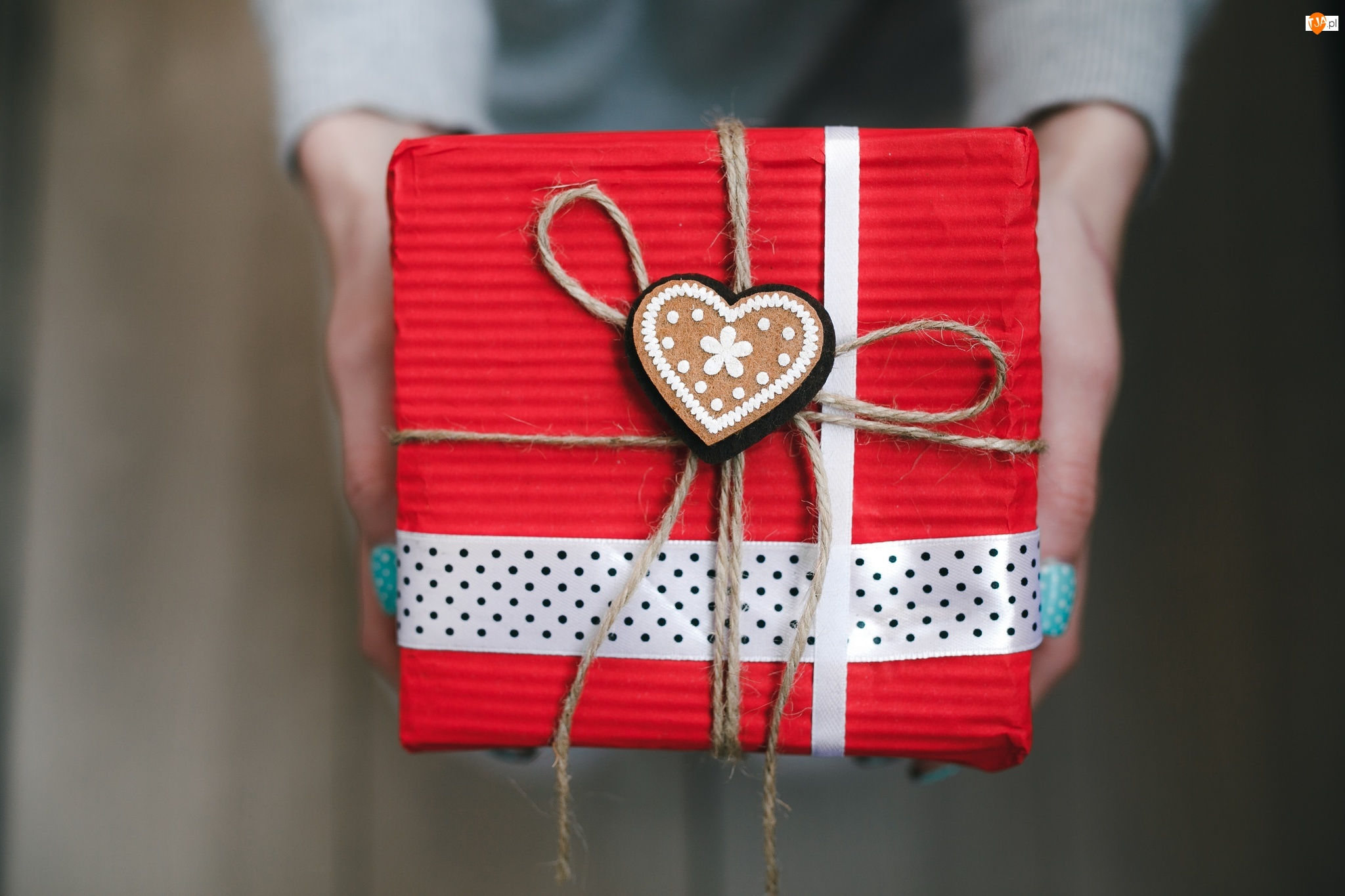 Serce, Walentynki, Prezent, Opakowanie