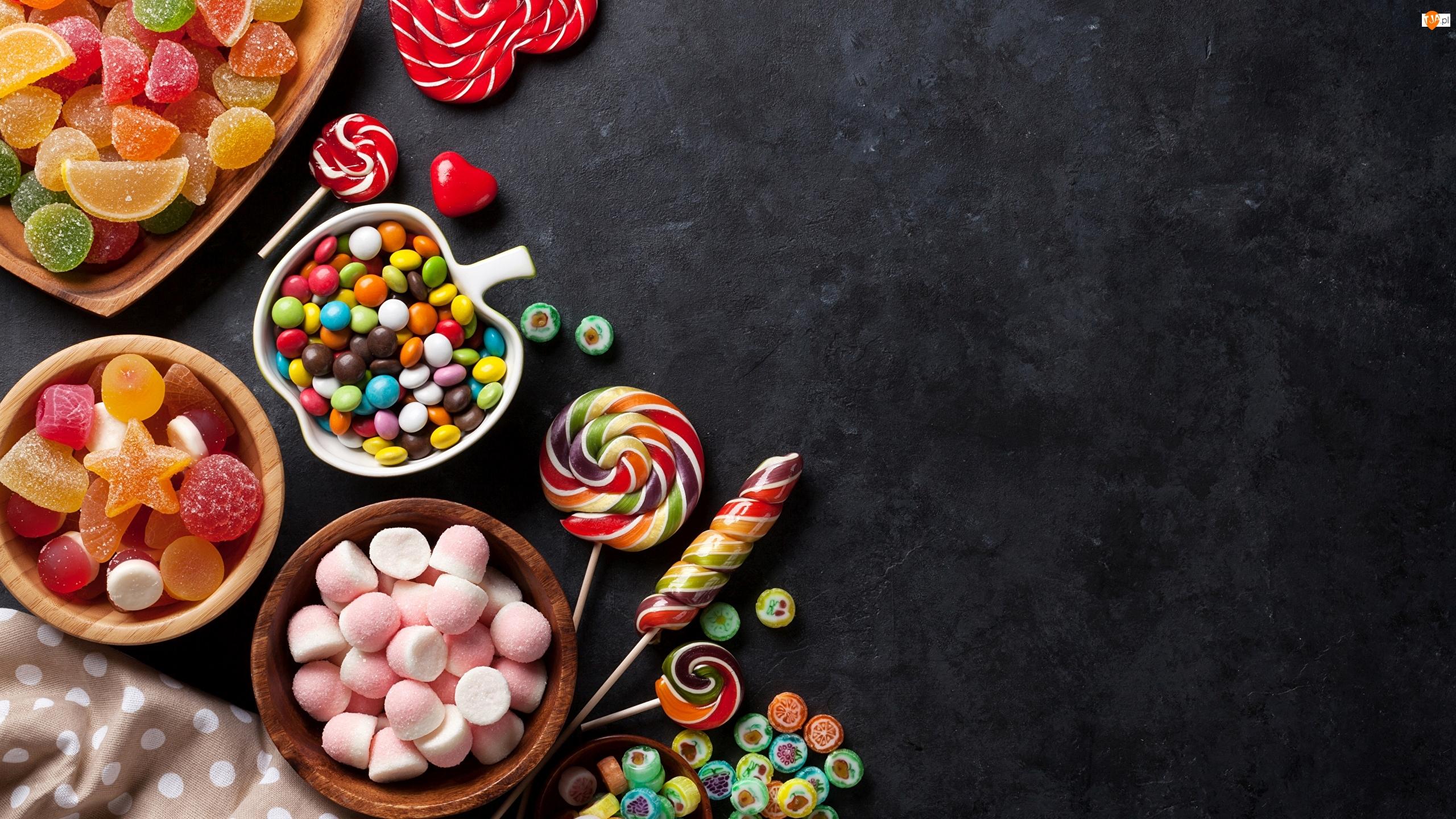 Cukierki, Galaretki, Żelki, Słodycze, Lizaki