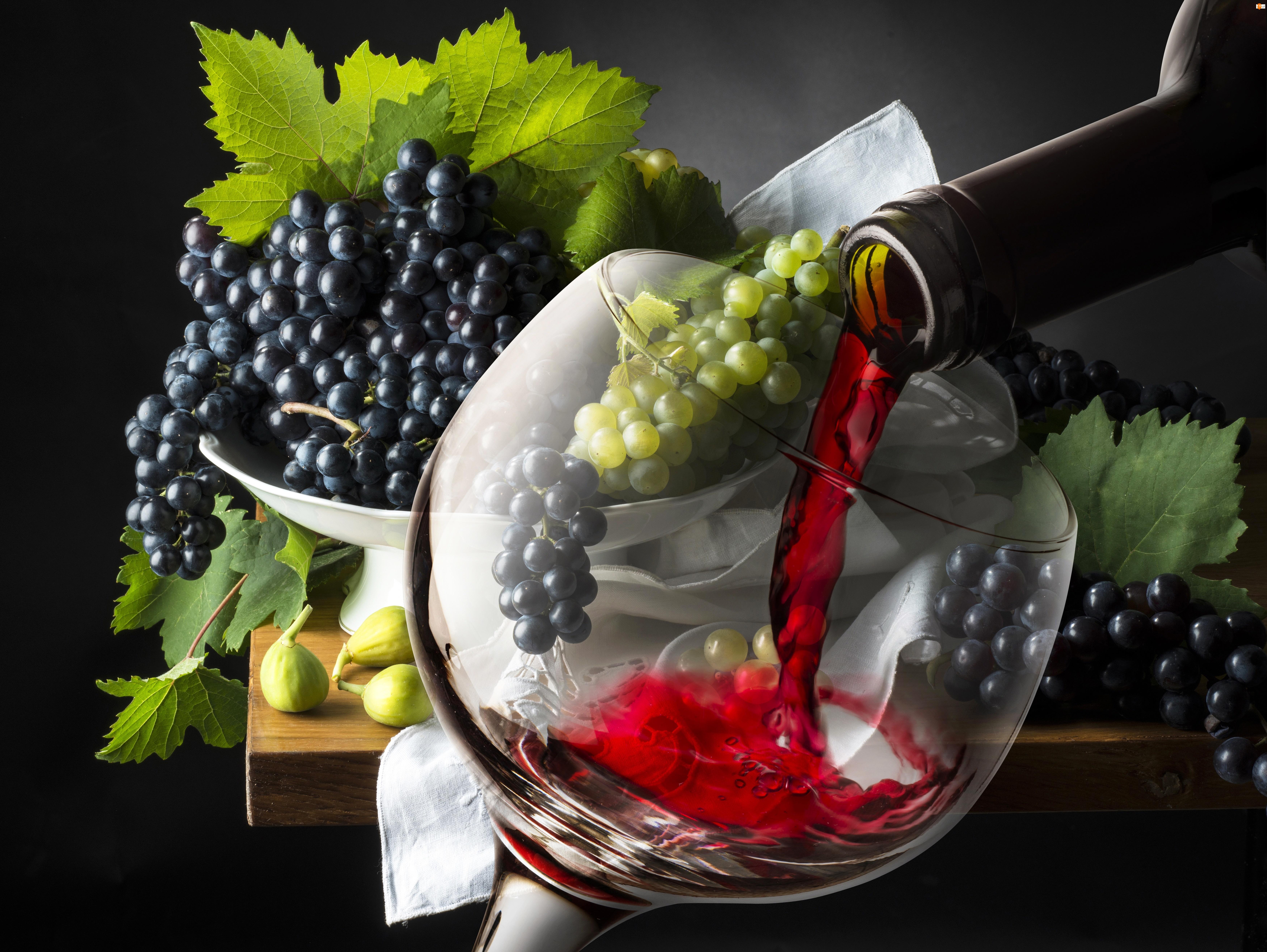 Wino, Winogrona, Kieliszek