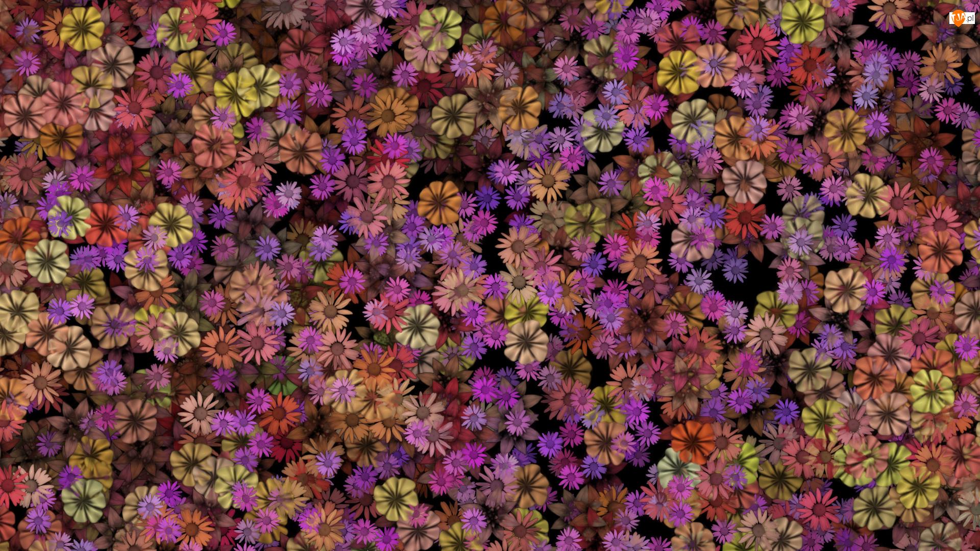 Grafika, Kwiaty, Tekstura
