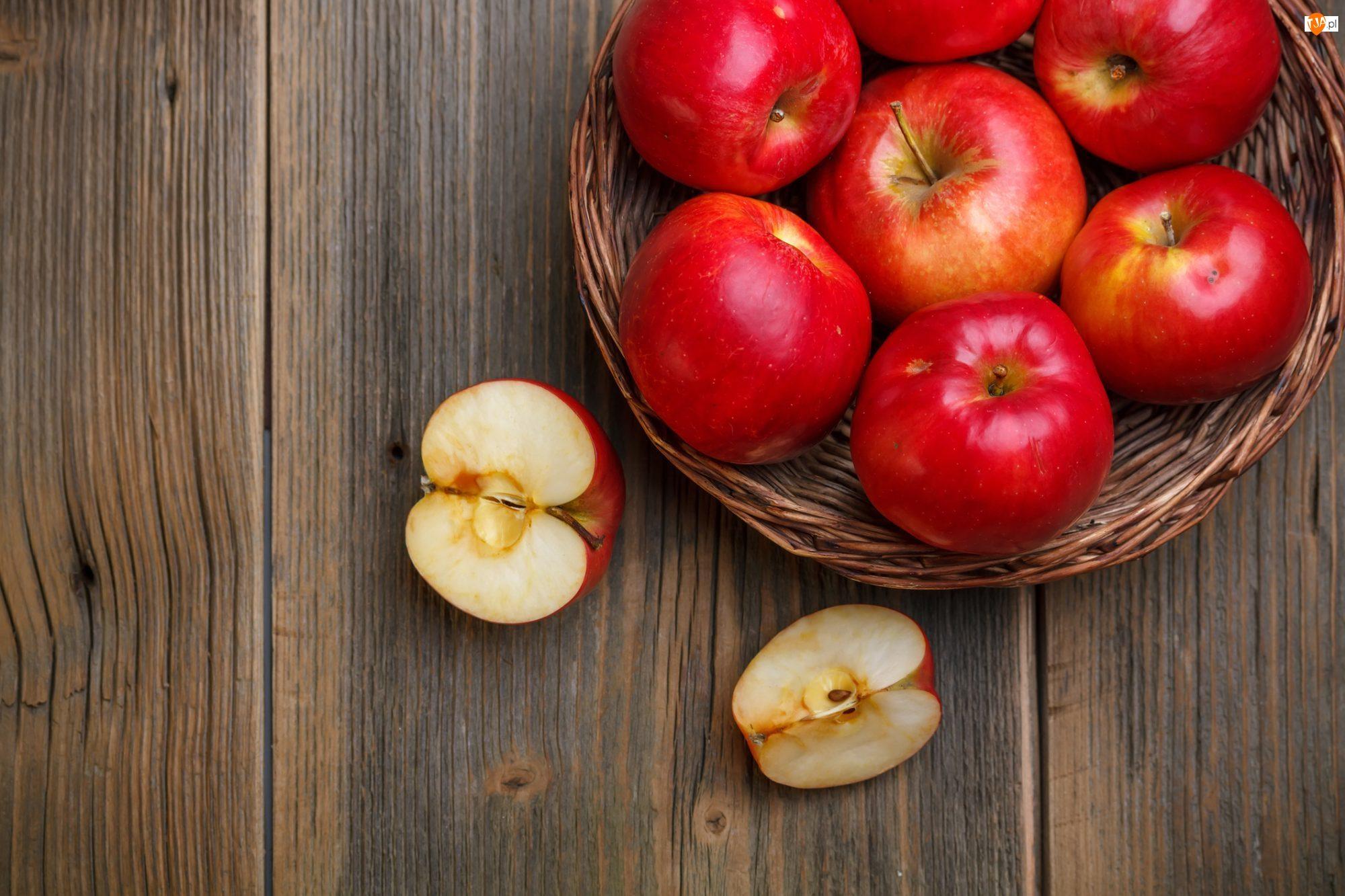 Deski, Jabłka, Koszyk