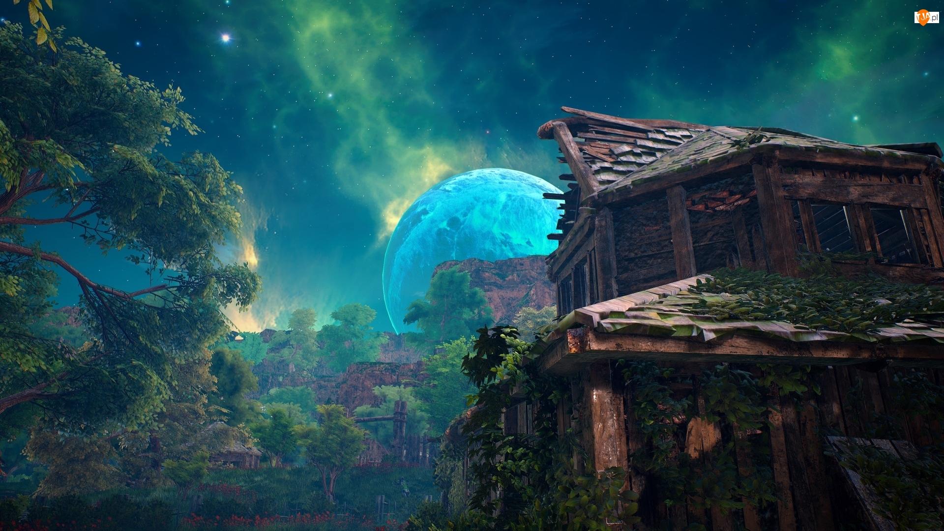 Sceneria, Dom, Biomutant, Gra, Księżyc