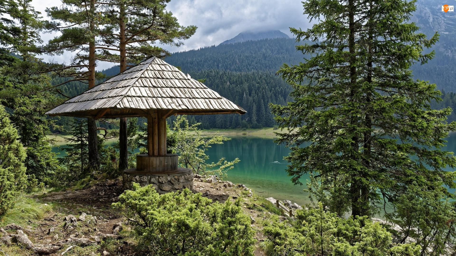 Drzewa, Jezioro, Góry, Altana, Lasy