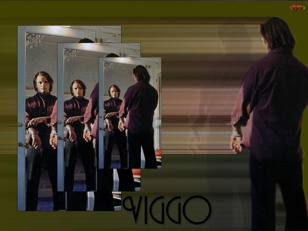 lustro, Viggo Mortensen, drzwi