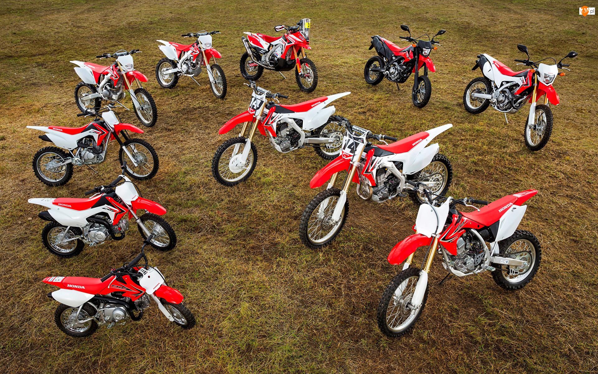 Czerwono-białe, Motocykle, Honda CRF