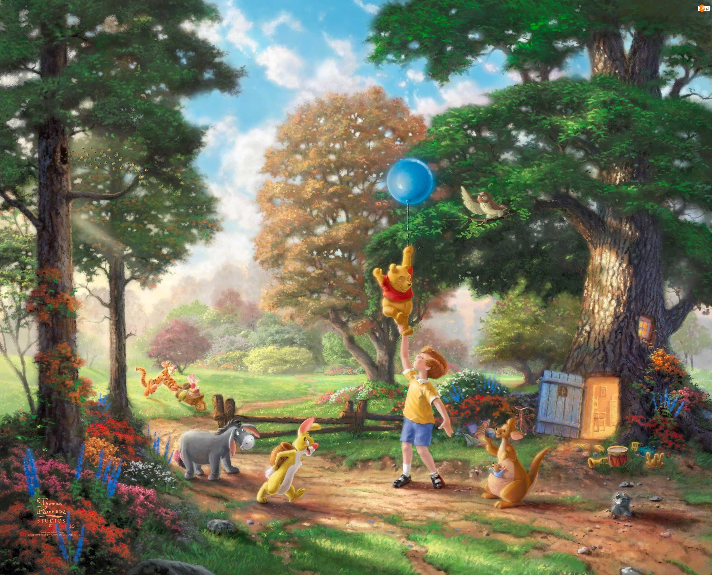 Malarstwo, Thomas Kinkade, Kubuś Puchatek, Disney
