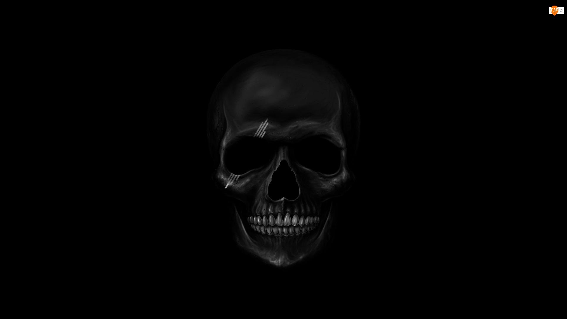 Czarne tło, Czaszka
