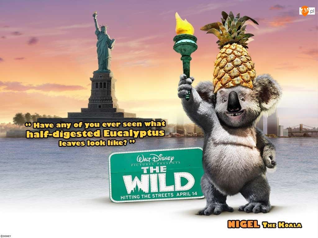 Statua Wolności, koala, Dżungla