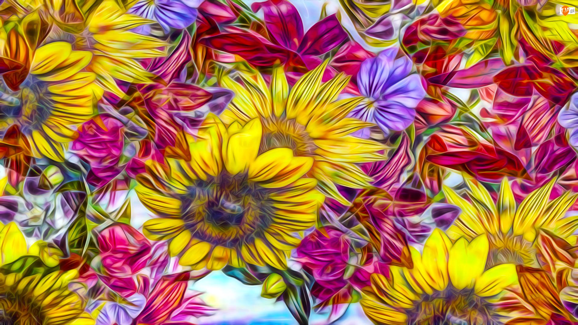 Kwiaty, Fractalius, Kolorowe