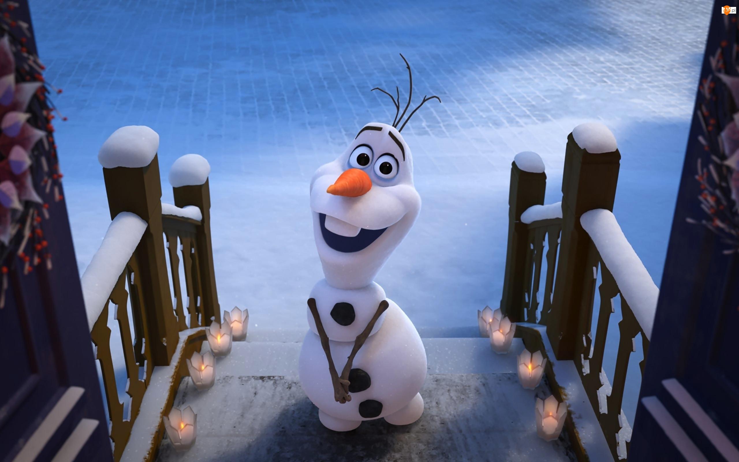 Olafs Frozen Adventure, Zima, Kraina lodu Przygoda Olafa, Bajka, Bałwanek Olaf