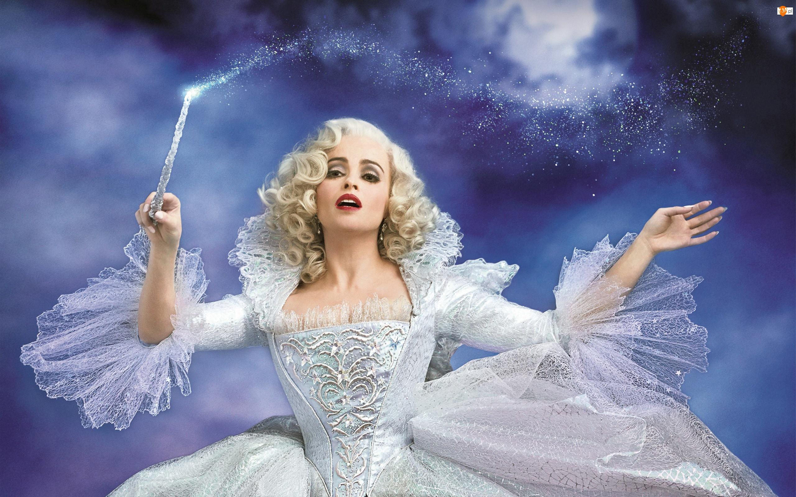 Różdżka, Film, Helena Bonham Carter, Wróżka, Aktorka, Cinderella, Kopciuszek