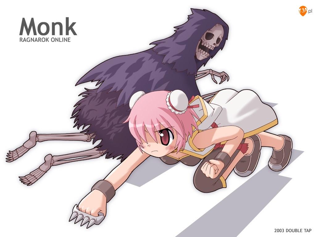 Ragnarok, dziewczyna, monk, szkielet