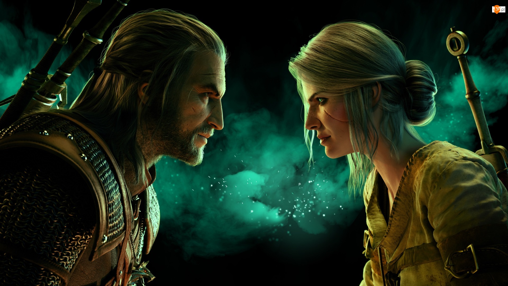 Wiedźmin 3 Dziki Gon, Gra, Geralt z Rivii, Ciri, The Witcher 3 Wild Hunt, Czarodziejka