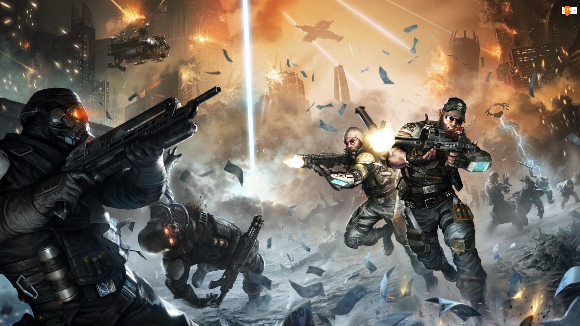 Walka, Gra, Postacie, Bitwa, Killzone Najemnik, Żołnierze, Strzały, Killzone Mercenary