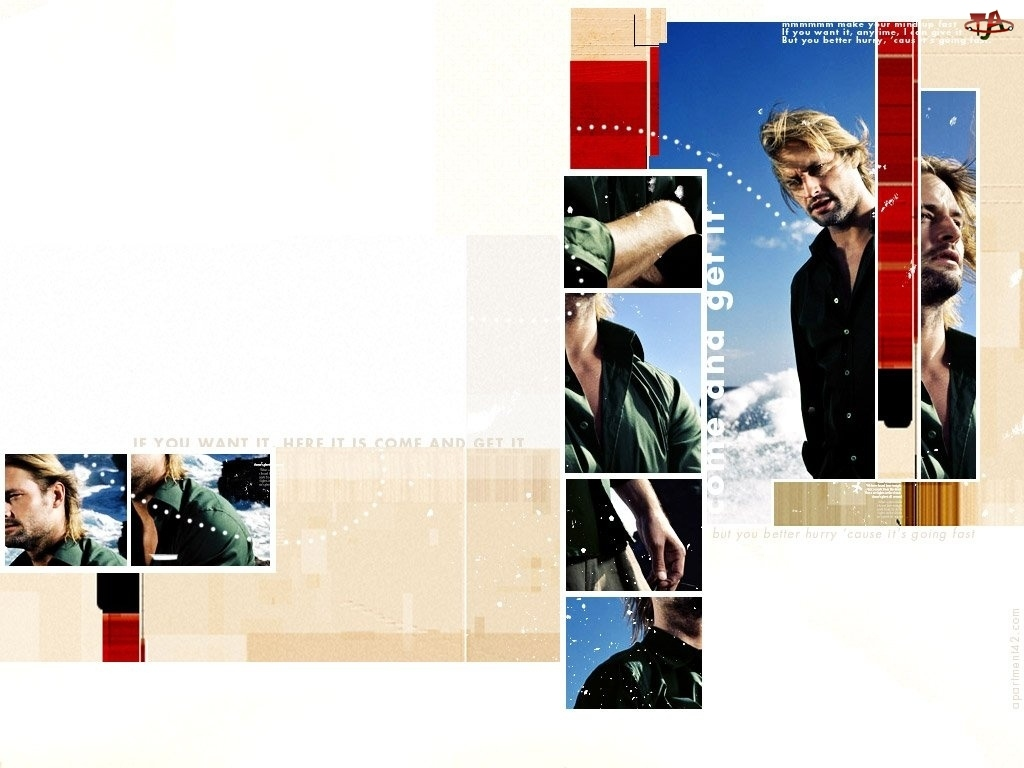 Filmy Lost, Josh Holloway, zdjęcia, napis