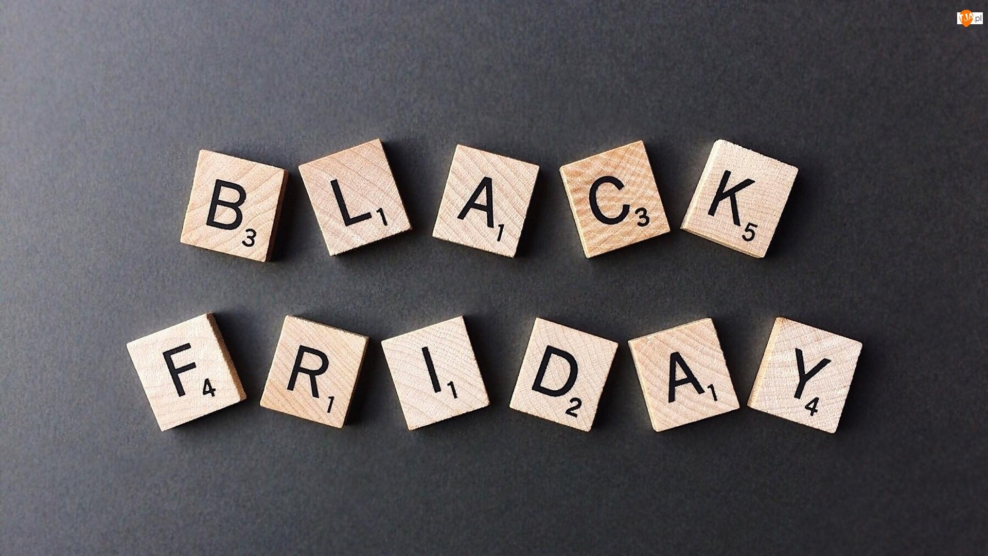 Black Friday, Tło, Napis, Scrabble, Ciemne