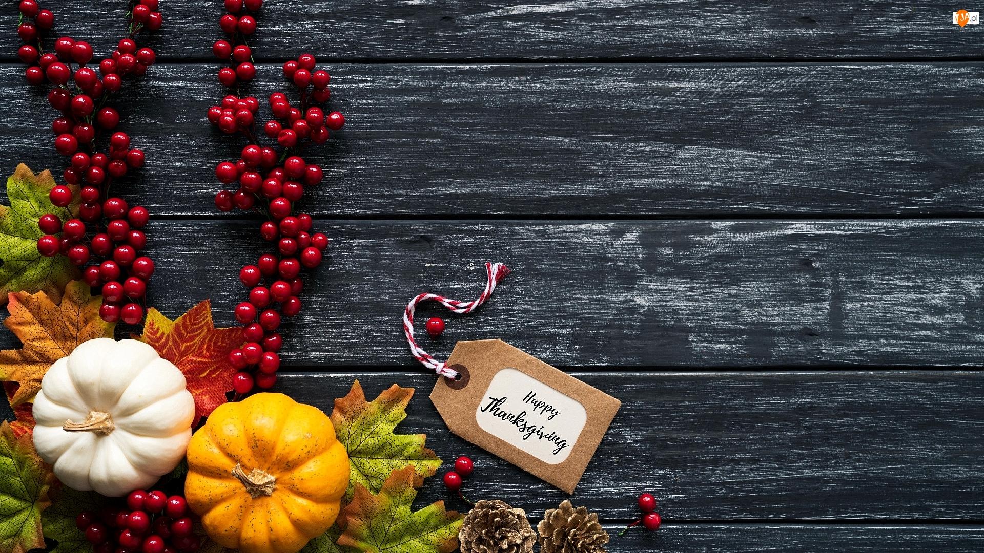 Deski, Jagody, Święto Dziękczynienia, Życzenia, Bilecik, Czerwone, Liście, Dynie, Szyszki