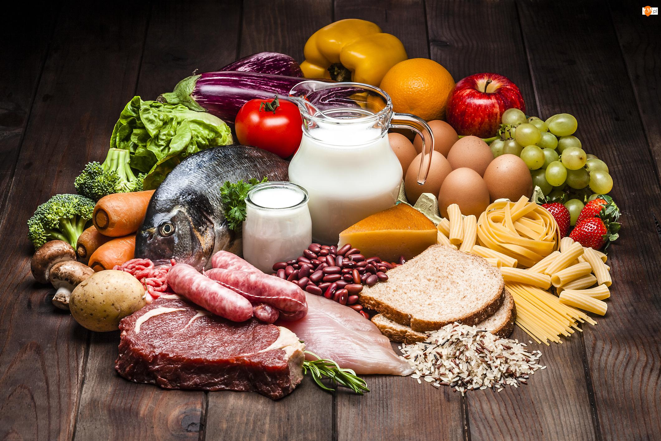Mięso, Wędliny, Owoce, Jedzenie, Papryka, Warzywa, Przyroda