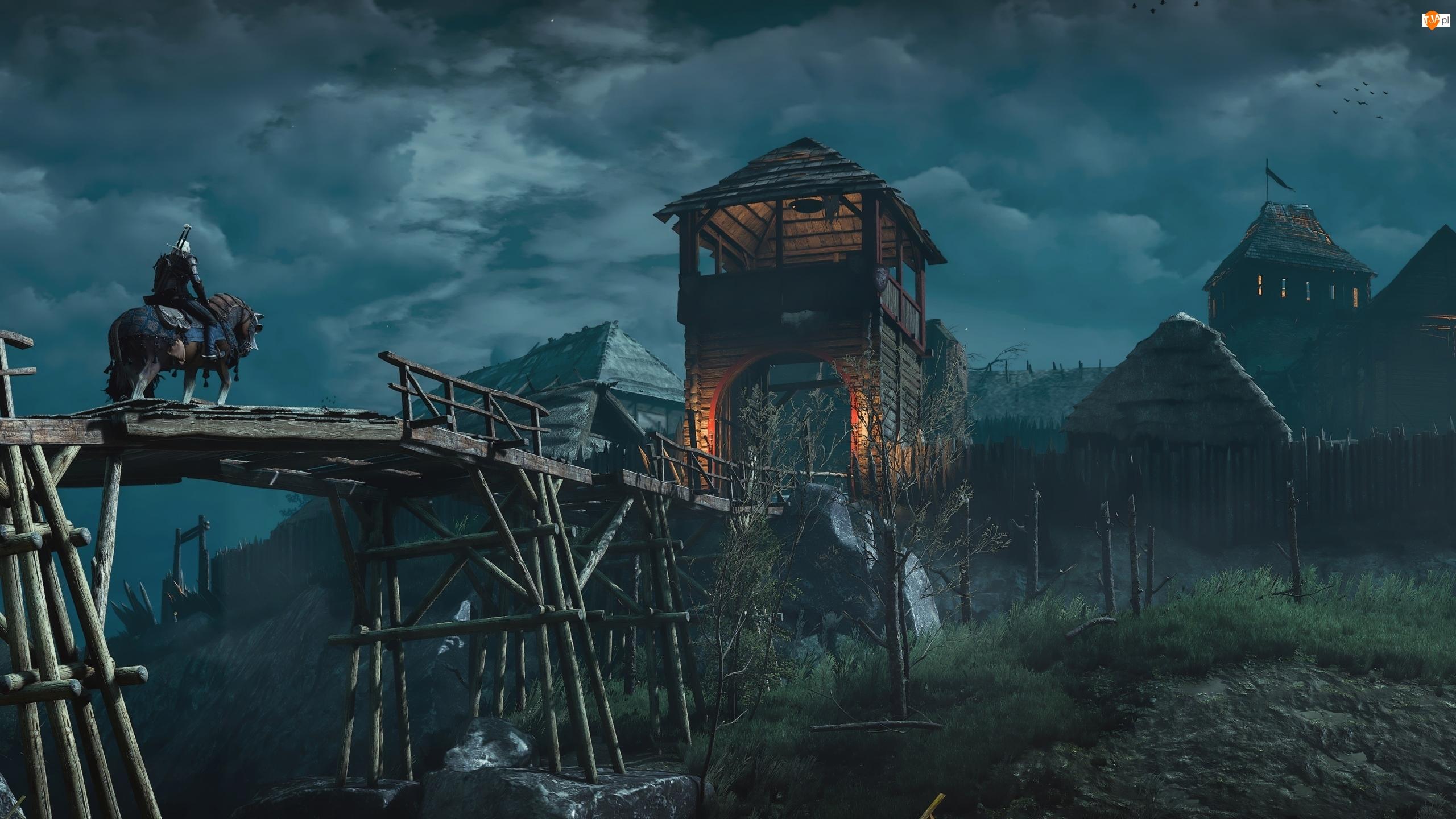 Most, Wiedźmin 3 Dziki Gon, Baszta, Koń, Drewniana, Geralt z Rivii