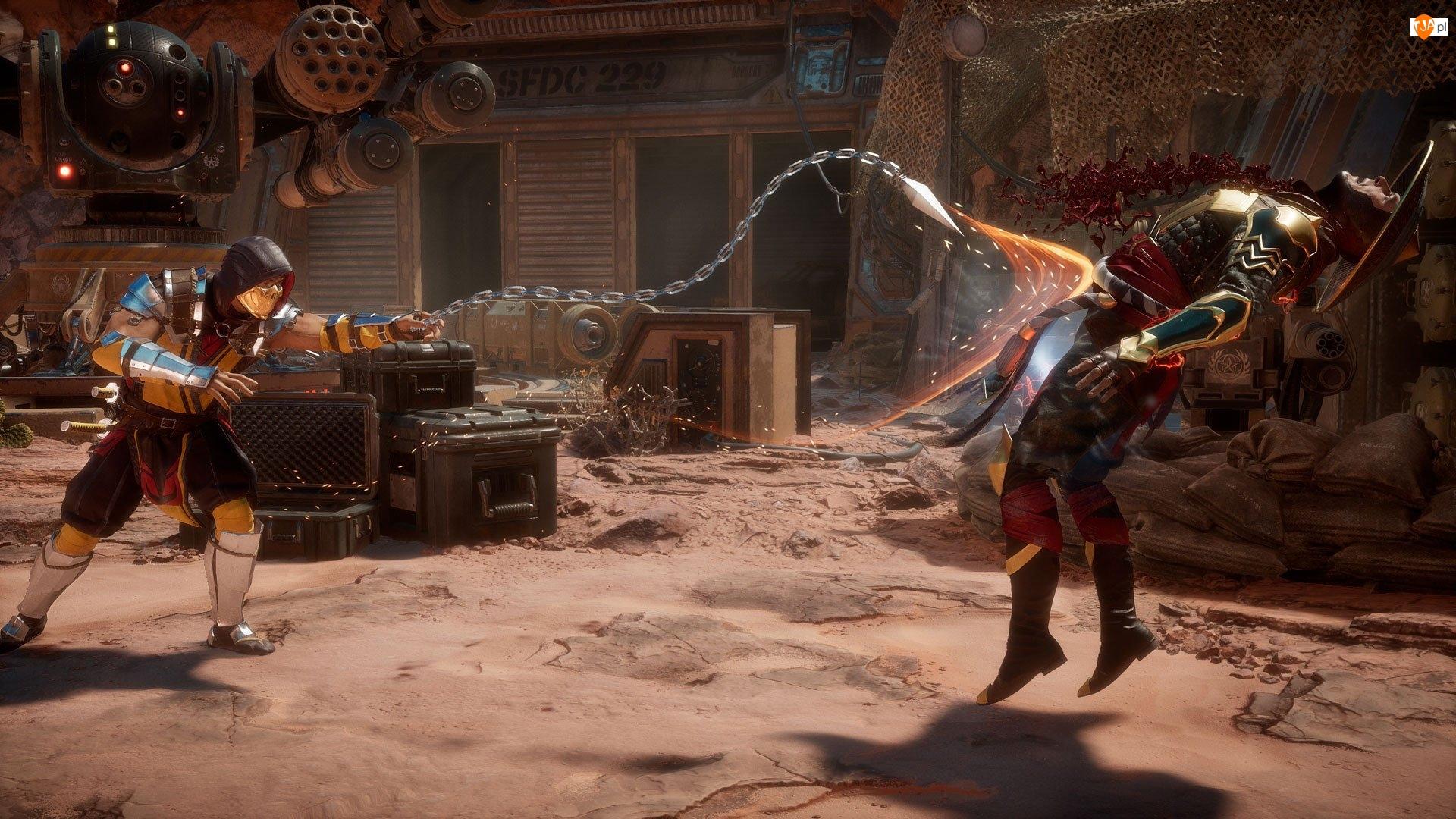 Walka, Mortal Kombat 11, Raiden, Scorpion