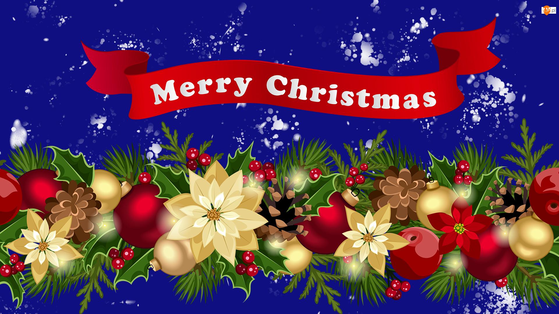 Grafika, Boże Narodzenie, Girlanda