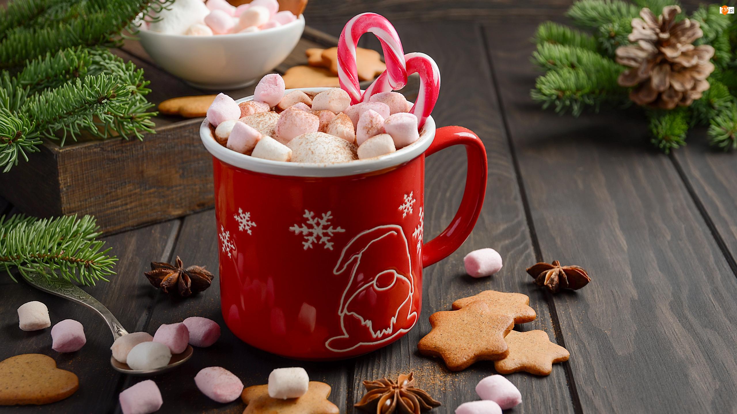 Pianki, Świąteczne, Kubek, Ciasteczka