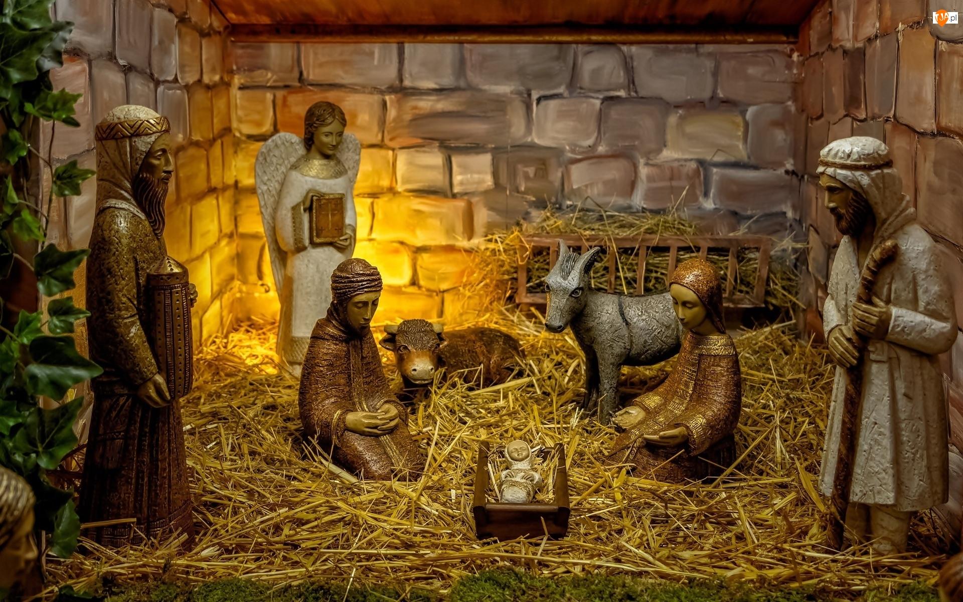 Sianko, Boże Narodzenie, Jezus, Żłóbek, Szopka