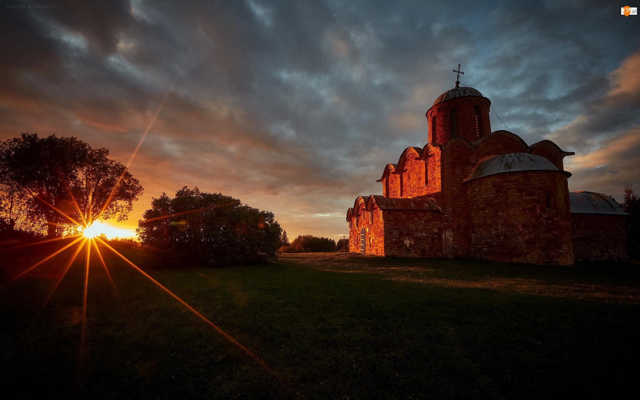 Promienie słońca, Cerkiew, Drzewa