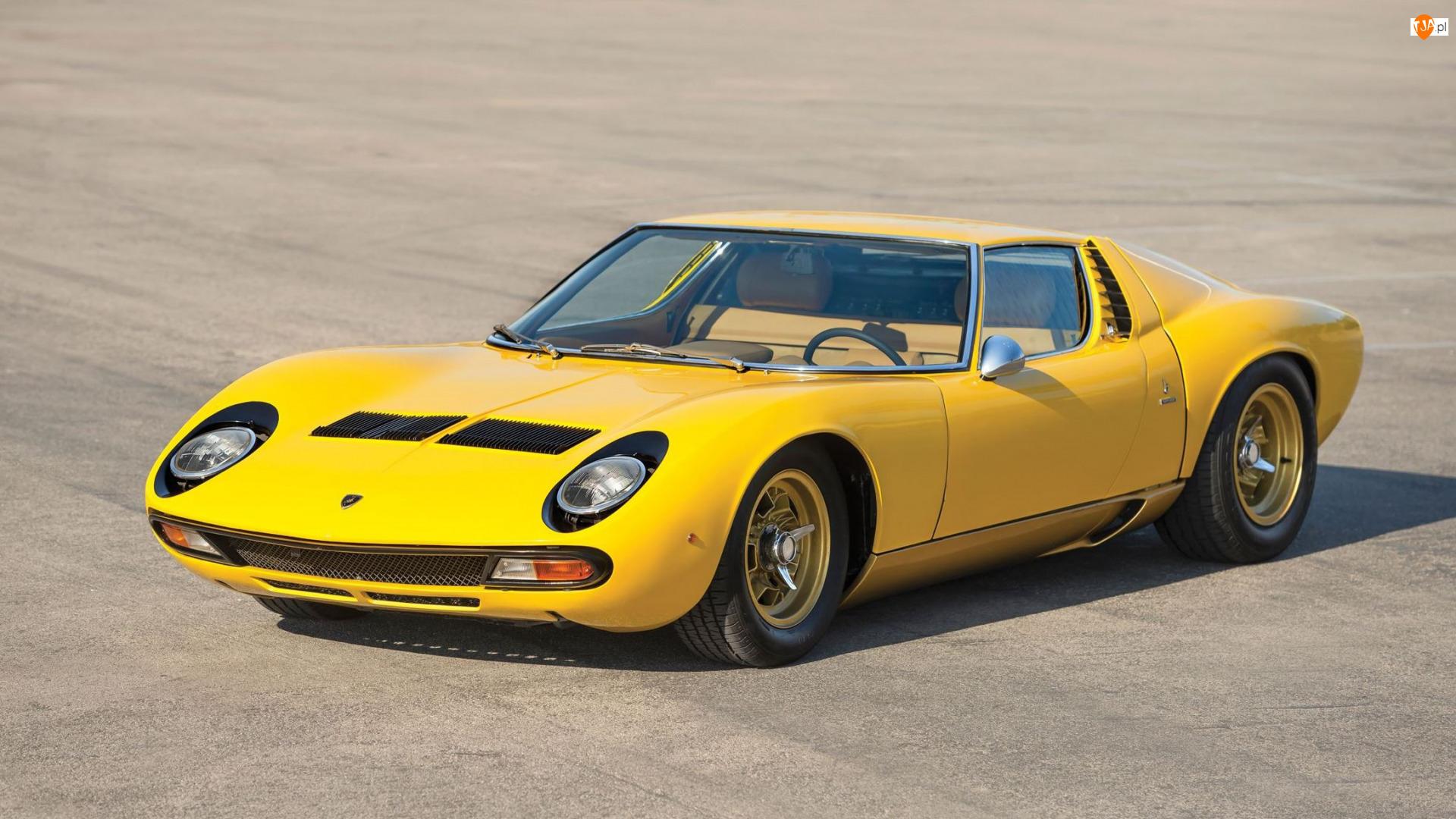 1971, Żółte, Zabytkowe, Lamborghini Miura P400 SV