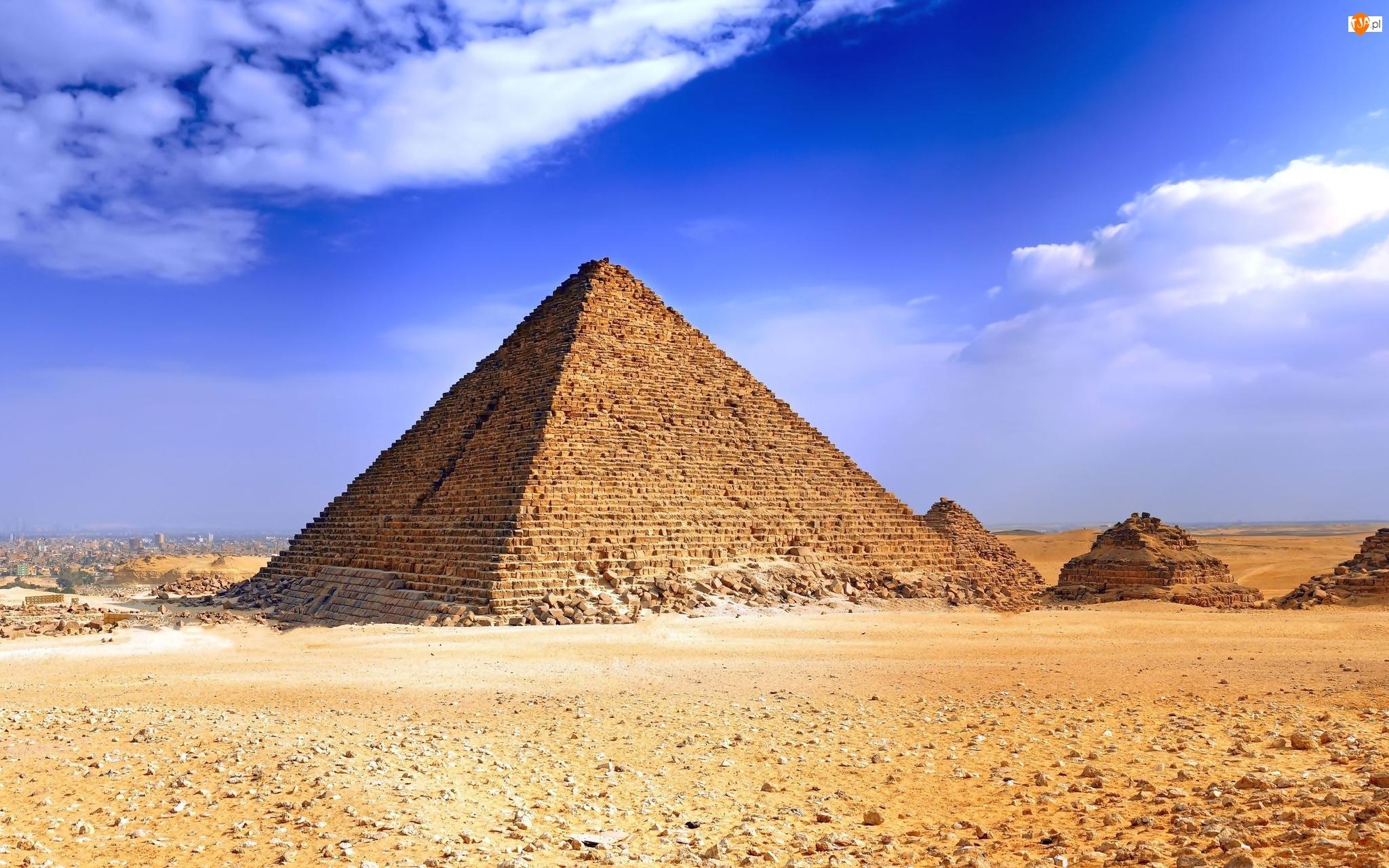 Egipt, Piramidy, Giza